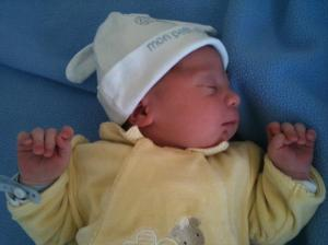Aymeric, my new nephew, born March 5, 2010... far away in France!
